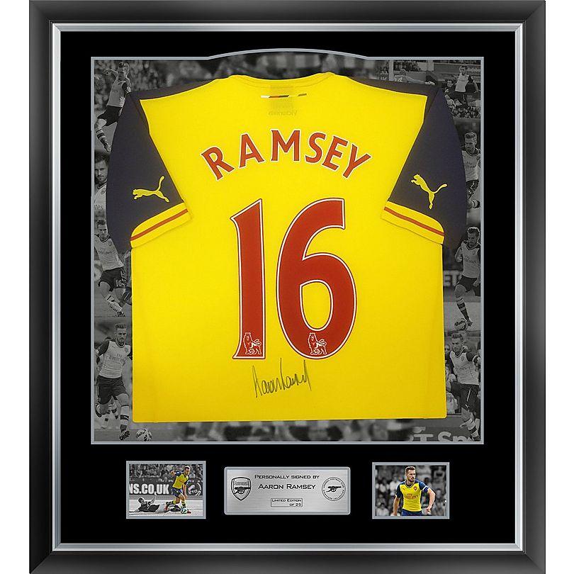 the latest b34d7 9194b Arsenal Framed Signed Aaron Ramsey 15/16 Away Shirt ...