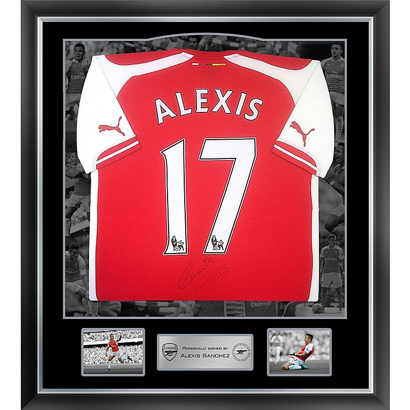 premium selection be44d fa4cd Arsenal Framed Signed Alexis 15/16 Home Shirt | Official ...