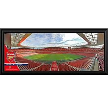 Arsenal Empty Emirates Stadium Framed Panoramic Photograph