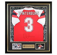 Arsenal Framed Signed Winterburn 92/94 Home Shirt