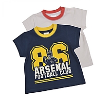 Arsenal Baby 2 Pack T-Shirts