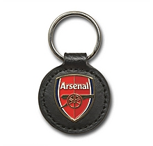Arsenal Leather Keyring