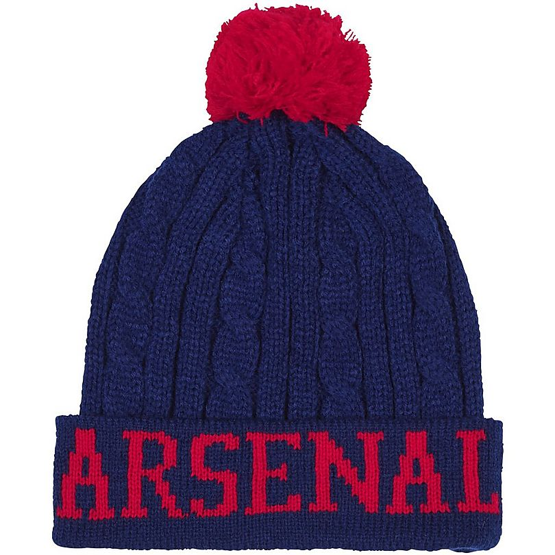 0a8f742c67c Arsenal Cable Knit Text Beanie