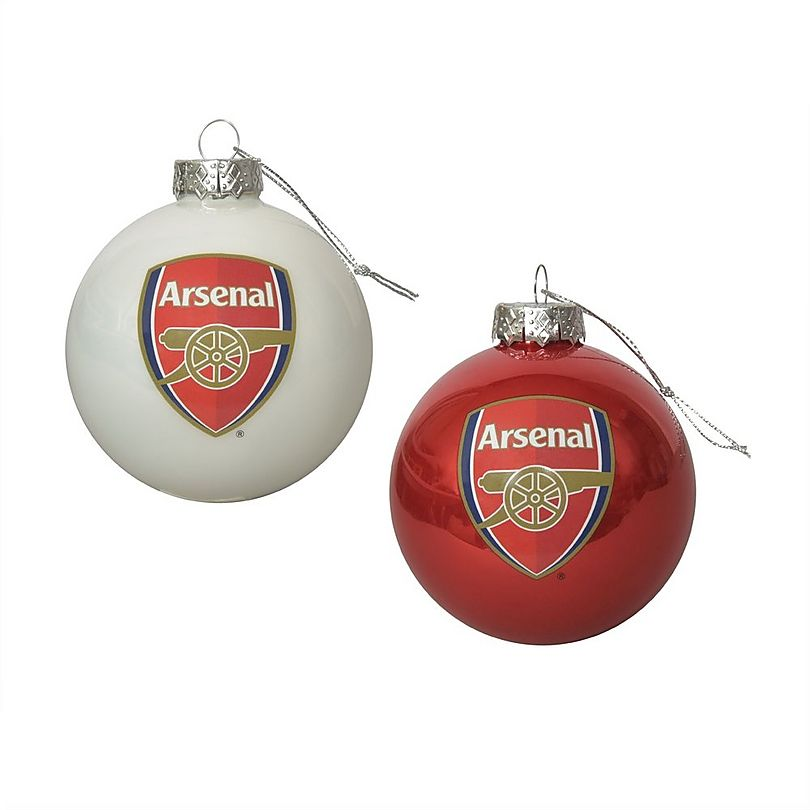 Sports Direct Arsenal Towel: Arsenal 2 Pack Of Christmas Baubles
