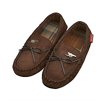Arsenal Mens Bow Moccasin Slippers