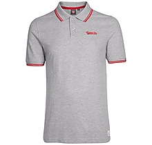 Arsenal Mens Grey Embroidered Polo Shirt