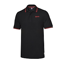 Arsenal Mens Black Embroidered Polo Shirt