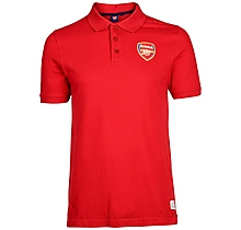 Arsenal Mens Red Crest Polo Shirt