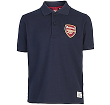 Arsenal Kids Navy Crest Polo Shirt (2-13yrs)