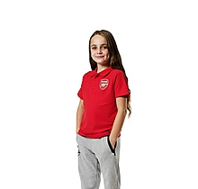 Arsenal Kids Red Crest Polo Shirt (2-13yrs)