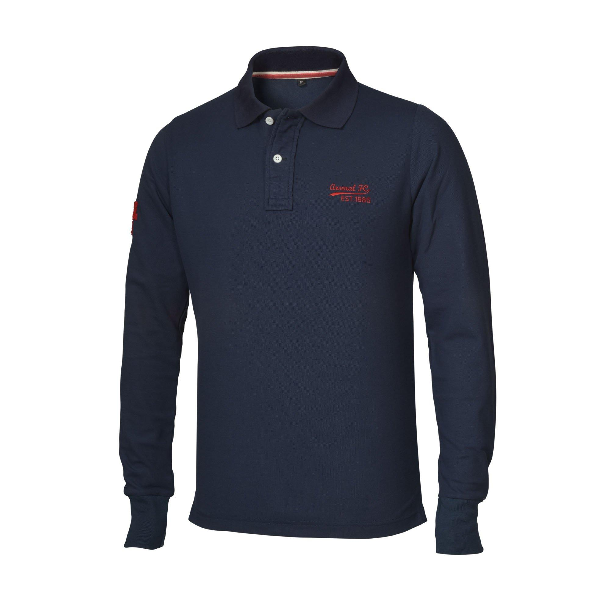 Arsenal FC Official Football Gift Boys Long Sleeve Polo Shirt