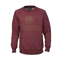 Arsenal Junior Rubber Print Cannon Sweat