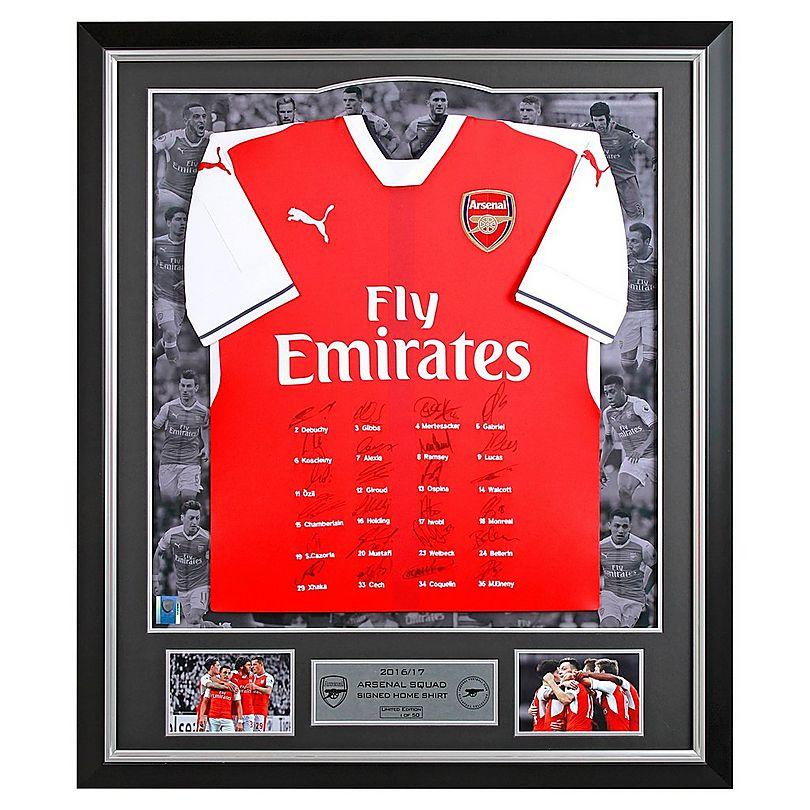 16/17 Framed Signed Squad Home Shirt