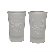 Arsenal Frosted Shot Glasses