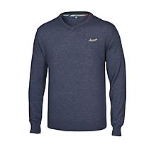 Mens Lambswool Blend V Neck Sweater