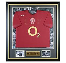 Bergkamp-Pires Signed Last year at Highbury Shirt