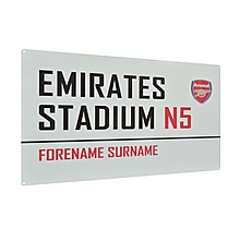 Personalised Street Sign Emirates Stadium