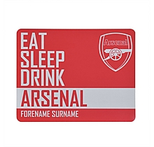 Personalised Eat/Sleep/Drink Arsenal Mousemat