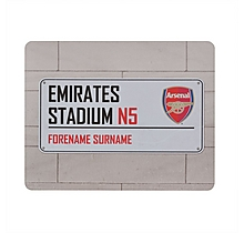 Arsenal Personalised Street Sign Mousemat