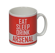 Arsenal Personalised Eat / Sleep / Drink Mug