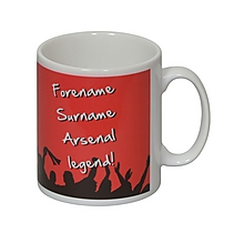 Arsenal Personalised Legend Mug