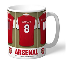 Arsenal Personalised Player Dressing Room Mug