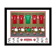 Arsenal Personalised Goalkeeper Dressing Room Frame
