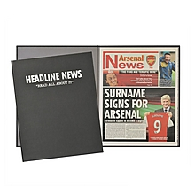 Personalised Newspaper New Signing Folder