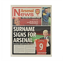 Personalised Newspaper New Signing Single Sheet