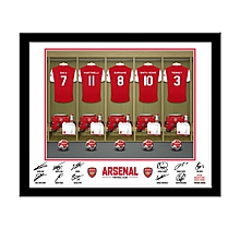 Arsenal Personalised Player Dressing Room Frame