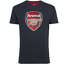 Arsenal Crest Blue T-Shirt