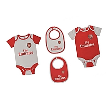 Arsenal Baby 4 Piece Bodysuit and Bib