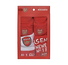 Arsenal Baby Hat with Bib and Bootee Boxset