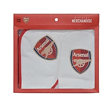Arsenal Baby Hooded Towel and Wash Mitt Boxset