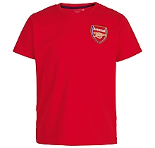 Arsenal Junior Red Crest T-Shirt