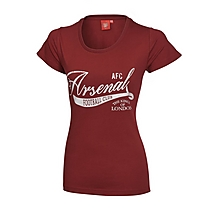Arsenal Ladies Redcurrant T-Shirt