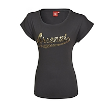 Arsenal Ladies Sequin Black T-Shirt