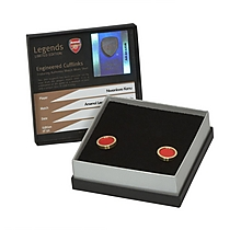 Arsenal Kanu Match Worn Shirt Cufflinks