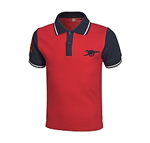 Arsenal Junior Contrast Sleeve Polo Shirt