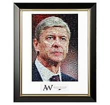 Arsène Wenger Mosaic Framed Print