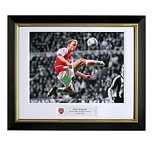 Dennis Bergkamp V Newcastle Framed Print