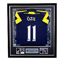Özil Framed Signed 16/17 Third Shirt
