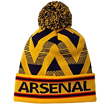 Arsenal Yellow Chevron Beanie