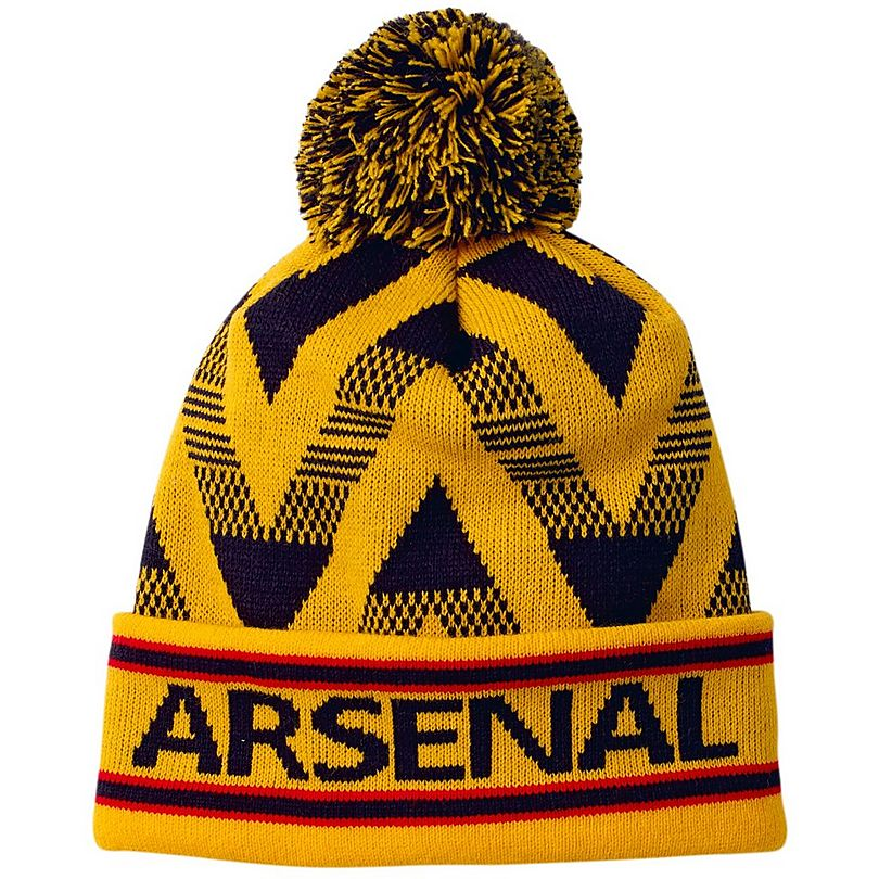4ca2fb460 Arsenal Yellow Chevron Beanie | Hats & Caps | Accessories | Mens ...