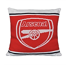 Arsenal Knitted Crest Cushion