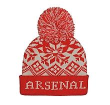 Arsenal Snowflake Pompom Beanie