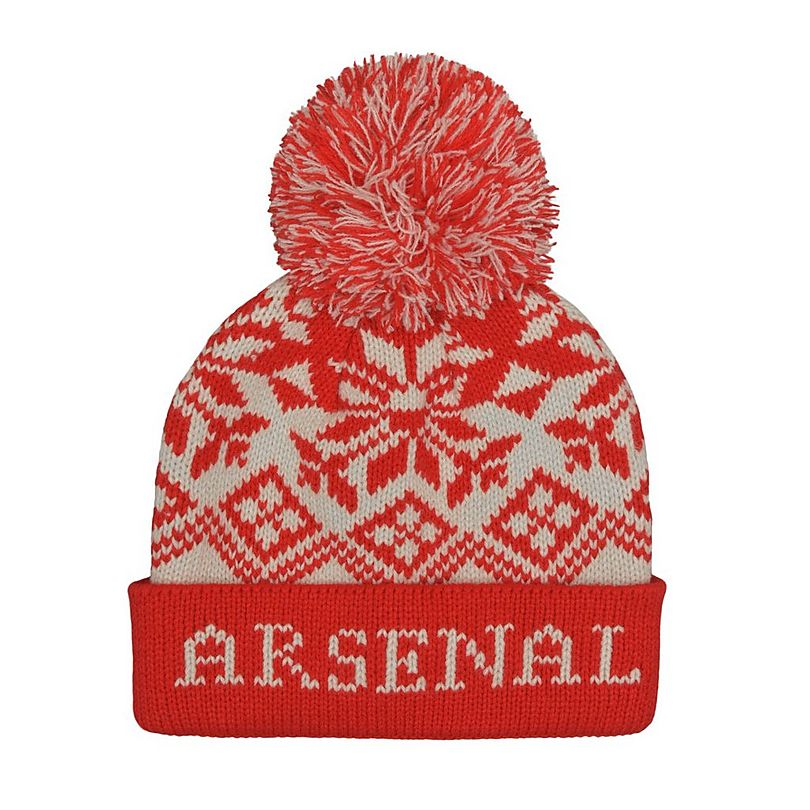 6b4a5d11d97360 Arsenal Snowflake Pompom Beanie | Official Online Store