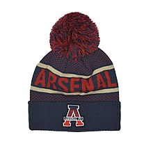 Arsenal Marl Text Pompom Beanie