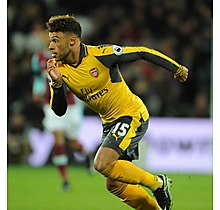 Arsenal Oxlade-Chamberlain Match Worn Shirt Paperweight