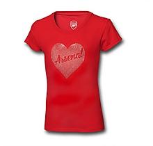 Arsenal Infant Girl Rhinestone T-Shirt